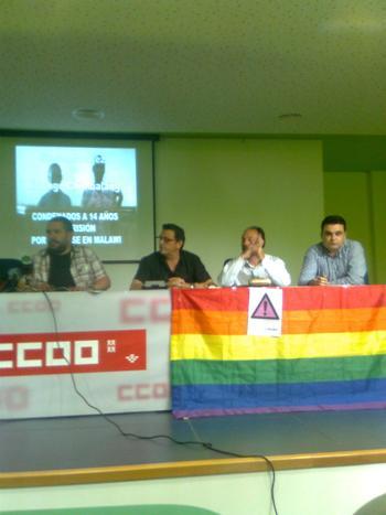 EL CANDIDATO A LA ALCALDIA POR SPCT PARTICIPA EN LA RUEDA DE PRENSA DEL DIA INTERNACIONAL CONTRA LA HOMOFOBIA